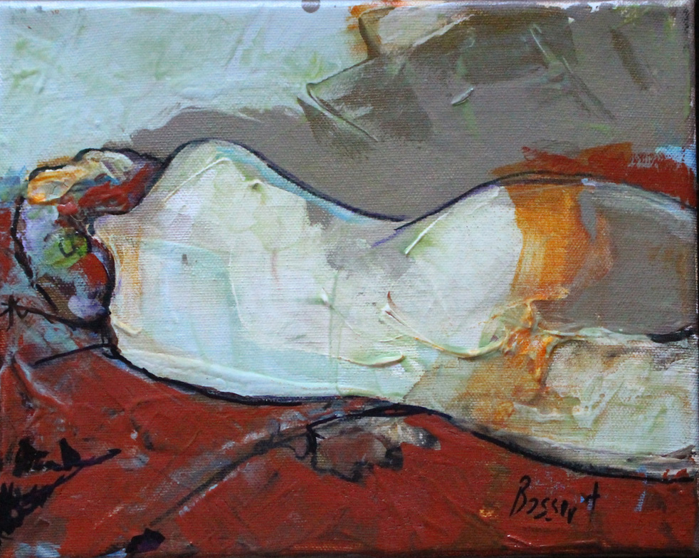 Reclining Nude with Orange Sheer Image