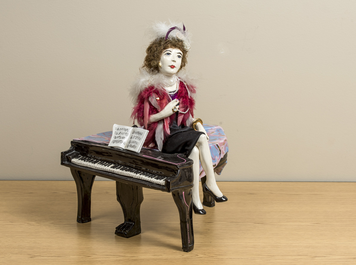 Lady on Baby Grand  Image