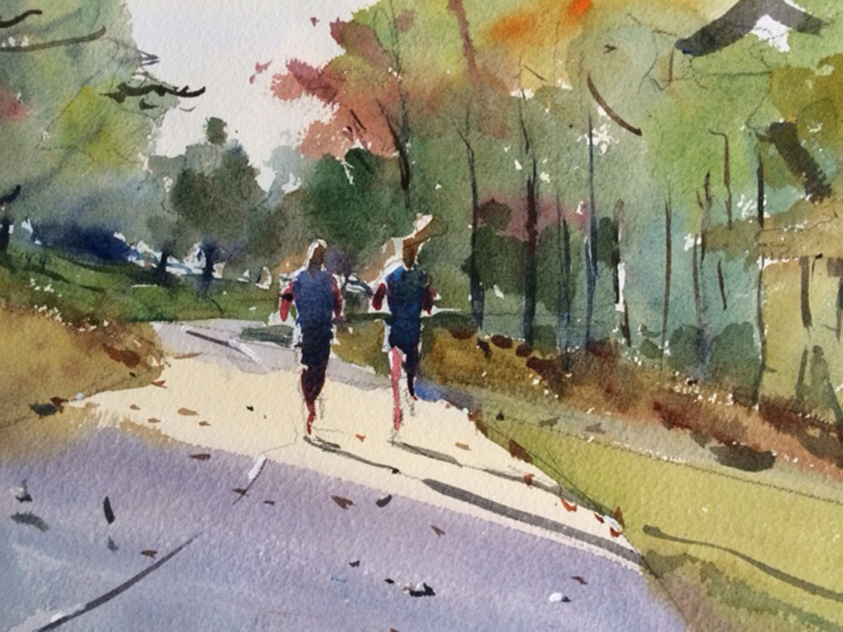 Two Joggers at Trexler Park  Image