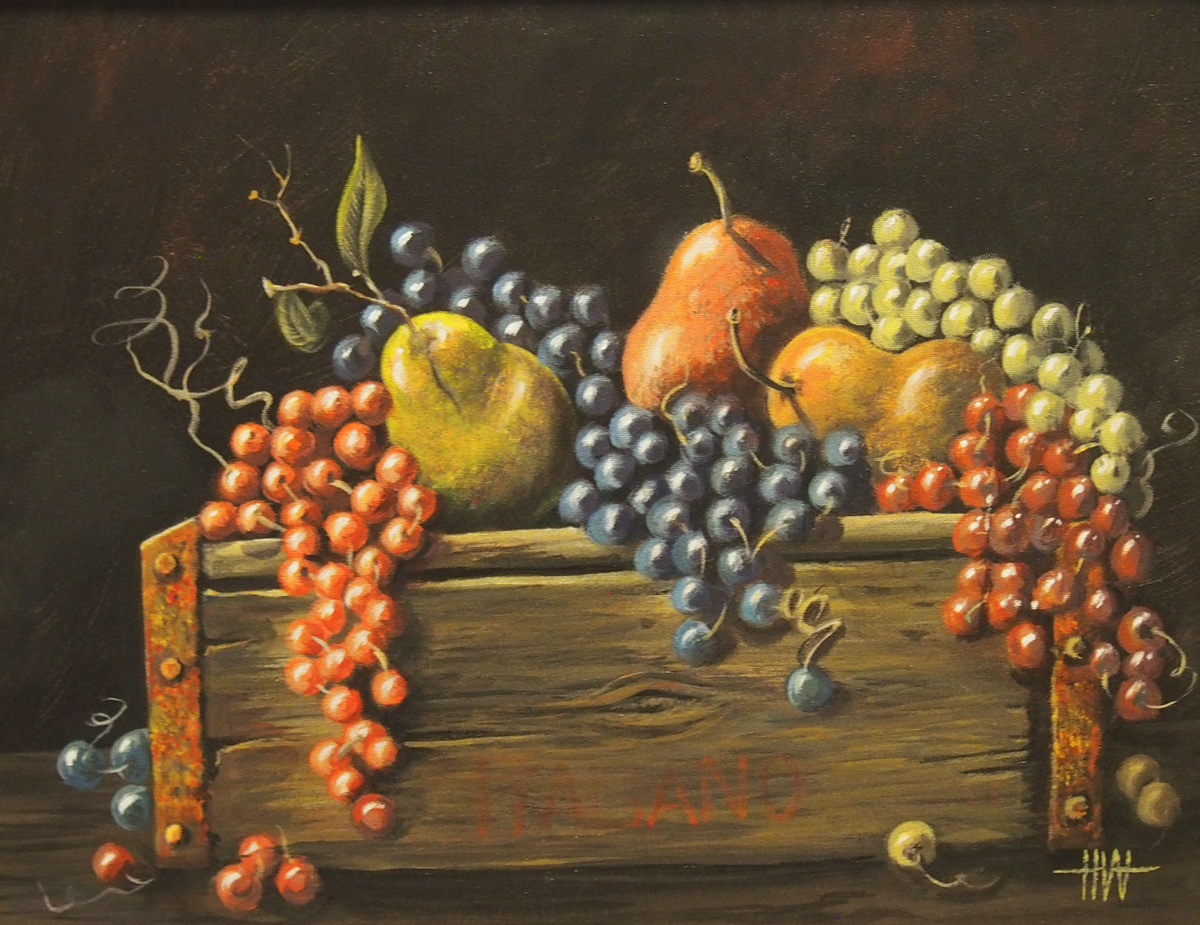 Still Life Fruit on Crate Image